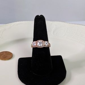 Jewelry - 🌜3 for $25🌛Rose Gold Princess Cut CZ Trio Ring